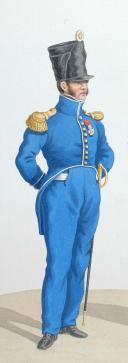 Photo 2 : 1820. Légions Départentales. Major ( 63e Légion - des Basses Pyrénés), Sous Lieutenant de Fusiliers (20e Légion - des Côtes du Nord).