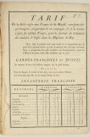 ORDONNANCE DU ROY, portant règlement sur les Décomptes de la Cavalerie françoise & étrangère, & des Dragons, du premier novembre 1745 au dernier avril 1746. Du premier novembre 1745. 18 pages (2)