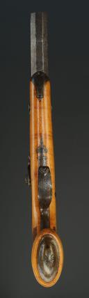 Photo 5 : PISTOLET D'OFFICIER, SUR LE MODÈLE 1833, SIGNÉ AUBRON À NANTES, MONARCHIE DE JUILLET.
