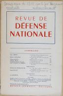 """Photo 1 : LEVRAULT - """" Revue de Défense Nationale """" - Publication mensuelle - Nouvelle série - 8ème année - Mars 1952"""