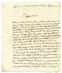 LETTRE DU SOUS-LIEUTENANT MICHEL QUINET, 86ème DEMI BRIGADE D'INFANTERIE, AU JUGE DE PAIX CHAURIOL, 1795.