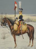 Photo 2 : Soulès : gouache représentant un chevau-léger lancier, 1812.