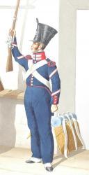 1830. Compagnies de sous officiers Sédentaires. Soldat, Fourrier (2)