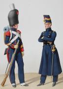 1828. Garde Royale. Artillerie à Pied. Sergent, Officier. (2)