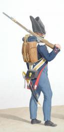 Photo 2 : 1819. Gendarmerie Royale des Départements. Gendarme à Pied en petite tenue, Brigadier à Pied en petite tenue.