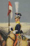 Photo 3 : Soulès : gouache représentant un chevau-léger lancier, 1812.