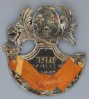 Photo 3 : PLAQUE DE SHAKO DE LA GARDE NATIONALE DU DÉPARTEMENT DE LA VIENNE, modèle 1816, Restauration.