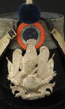 Photo 3 : SHAKO DE COLONEL D'ÉTAT-MAJOR DE LA GARDE NATIONALE, modèle 1848, Seconde République.