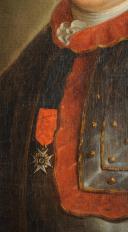Photo 4 : OFFICIER DE CAVALERIE FRANÇAISE, VERS 1775-1785, HUILE SUR TOILE.