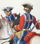 Photo 4 : Mousquetaires gris et Mousquetaires noirs de la Maison du Roi 1725-1745, 4 aquarelles originales par Lucien ROUSSELOT d'après des tableaux du temps.