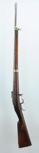 Photo 1 : CARABINE TREUILLE DE BEAULIEU, PREMIER TYPE (armement inférieur), SECOND EMPIRE.