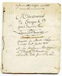 LIVRET TENU PAR UN SOLDAT SUR LES MOUVEMENTS DE TROUPES OPÉRÉS DANS LA PLACE DU HAVRE de janvier 1807 à novembre 1811.
