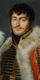 PORTRAIT de Jacques DE TROBRIANT  CHEF D'ESCADRONS DES CHASSEURS À CHEVAL DE LA JEUNE GARDE IMPÉRIALE, PREMIER EMPIRE (1813-1814) (2)