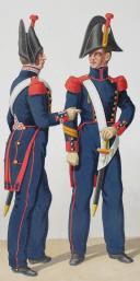 1828. Garde Royale. Artillerie à Pied. Tambour, Artificier, Sergent-Major. (2)