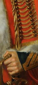 PORTRAIT de Jacques DE TROBRIANT  CHEF D'ESCADRONS DES CHASSEURS À CHEVAL DE LA JEUNE GARDE IMPÉRIALE, PREMIER EMPIRE (1813-1814) (8)