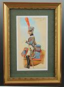 Photo 1 : ROUSSELOT Lucien, Maréchal des Logis du Train d'Artoillerie, vers 1813, Premier Empire, AQUARELLE ORIGINALE.