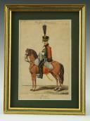 MARTINET : Troupes françaises, planche 10, 4ème Hussards, Premier Empire.