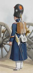 1828. Garde Royale. Artillerie à Pied. Brigadier, Canonnier. (2)