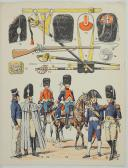 """L'ARMÉE FRANÇAISE Planche N° 44 : """"CARABINIERS 1804 - 1815"""" (2)"""