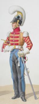 Photo 2 : 1818. Cuirassiers. Officier, Trompette (5e Régiment - de Condé).