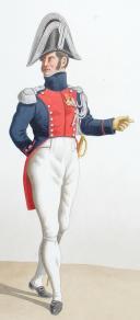 1819. Gendarmerie Royale des Départements. Gendarme à Cheval, Capitaine en tenue de societé. (2)
