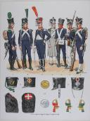 Photo 1 : L'ARMEE FRANCAISE Planche No 5 - L'INFANTERIE LEGERE - L. Rousselot
