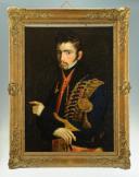 Photo 1 : PORTRAIT D'UN LIEUTENANT DU 6e ou 11e RÉGIMENT DE HUSSARDS, PREMIER EMPIRE (1804-1812).