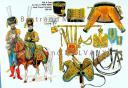 RIGO (ALBERT RIGONDAUD) : LE PLUMET PLANCHE 240 : AIDE DE CAMP DU PRINCE DE PONTE-CORVO JOSEPH FRANÇOIS BERNADOTTE 1808-1809.