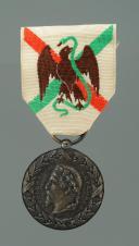 MÉDAILLE COMMÉMORATIVE DE LA CAMPAGNE DU MEXIQUE, créée en 1863, Second Empire.