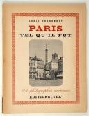 Louis Cheronnet, Paris tel qu'il fut,