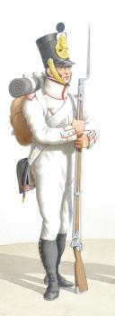 Photo 2 : 1830. Compagnies de Discipline Fusilier, Pionnier.