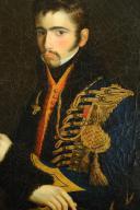 Photo 3 : PORTRAIT D'UN LIEUTENANT DU 6e ou 11e RÉGIMENT DE HUSSARDS, PREMIER EMPIRE (1804-1812).