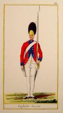 Photo 4 : PORTRAIT MINIATURE : OFFICIER DU RÉGIMENT DE CASTELLAS, ANCIENNE MONARCHIE (1766-1791).