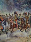 PIERRE BENIGNI, AQUARELLE ORIGINALE : DÉFILÉ DU RÉGIMENT DES GUIDES DE LA GARDE IMPÉRIALE, NAPOLÉON III, SECOND EMPIRE. (6)