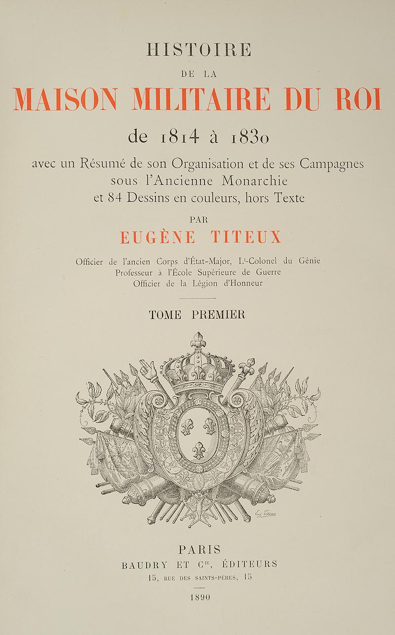 Titeux histoire de la maison militaires du roi for Origine du mot maison