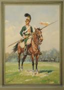 Photo 1 : ROUSSELOT Lucien, CHEVAU-LÉGER, 3ème régiment, PREMIER EMPIRE 1812.