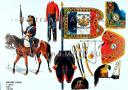 Photo 1 : RIGO (ALBERT RIGONDAUD) : LE PLUMET PLANCHE 241 : ARTILLERIE A CHEVAL 5e REGIMENT GUIDON 1798-1799.