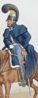 1824. Cuirassiers. Maréchal des Logis-Fourrier, Officier (3e Régiment - d'Angoulême). (2)