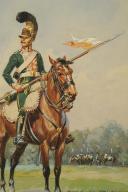 Photo 3 : ROUSSELOT Lucien, CHEVAU-LÉGER, 3ème régiment, PREMIER EMPIRE 1812.