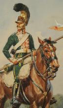 Photo 4 : ROUSSELOT Lucien, CHEVAU-LÉGER, 3ème régiment, PREMIER EMPIRE 1812.