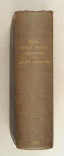Photo 1 : CATALOGUE of the library of the Royal united Service Institution.