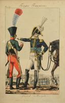 MARTINET, GÉNÉRAL DE BRIGADE : Gravure couleurs, Premier Empire.