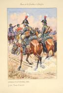 Photo 1 : Guide en tenue d'escorte du régiment des Guides et interprètes de l'armée d'Angleterre, 1803.