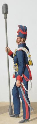 Photo 2 : 1817. Garde Royale. Artillerie à Cheval. Brigadier, Cannonier.
