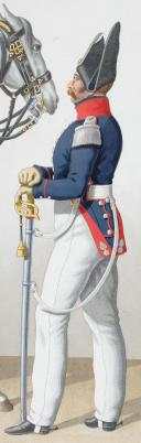 1824. Cuirassiers. Officiers (1er Régiment - de la Reine). (2)