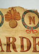 FRAGMENT DE DRAPEAU DE LA GARDE NATIONALE DE TOULOUSE, PREMIER EMPIRE. (3)