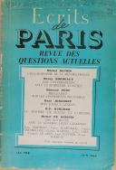 """"""" Écrits de Paris """" - Revue - Paris - Juin 1954 (1)"""