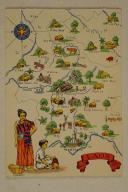 Carte postale mise en couleurs représentant la région du «LAOS».