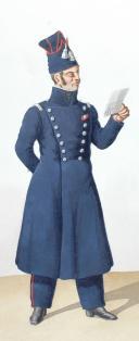 1822. Compagnies de Discipline. Officier, Sergent de Pionniers (2)