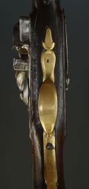 Photo 6 : PISTOLET DE CAVALERIE DE DRAGONS « L'HOPITAL DRAGONS », MODÈLE 1733, ANCIENNE MONARCHIE.
